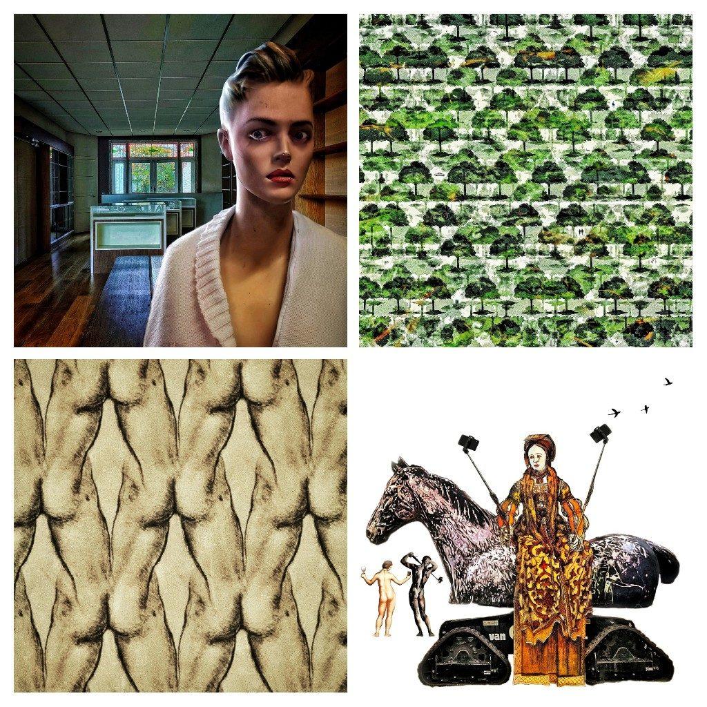 Enkele voorbeelden van de smartphone-art van Ruben van Gogh